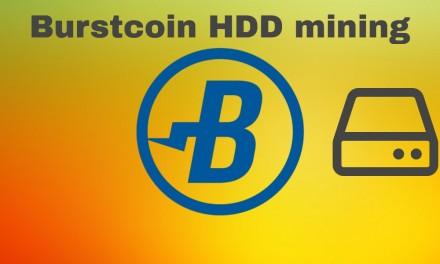 Harddisk mining with Linux on burstcoin