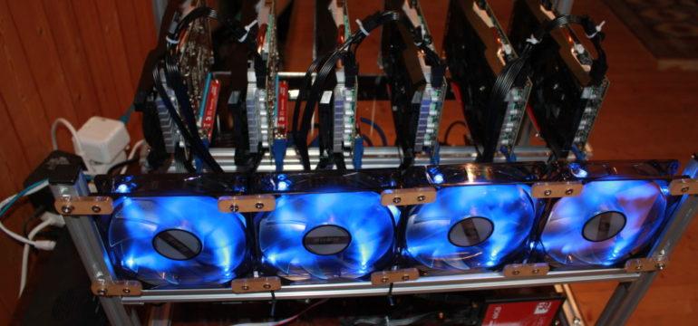 6 GPG P106-100 nvidia overclocking mining rig