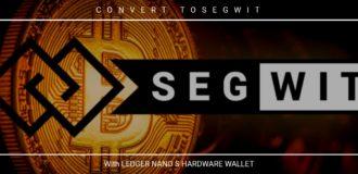segwit bitcoin ledger nano s