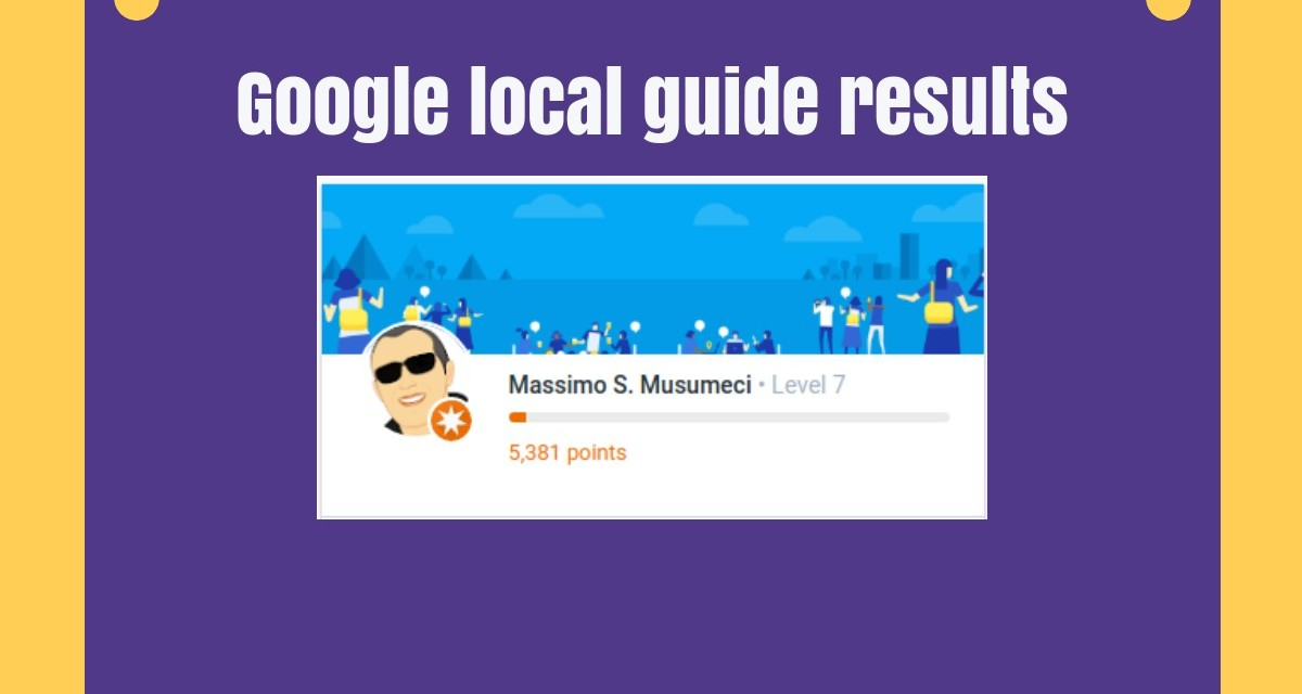 Google Local guide results this week