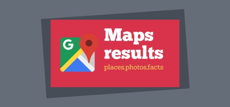google maps photo results