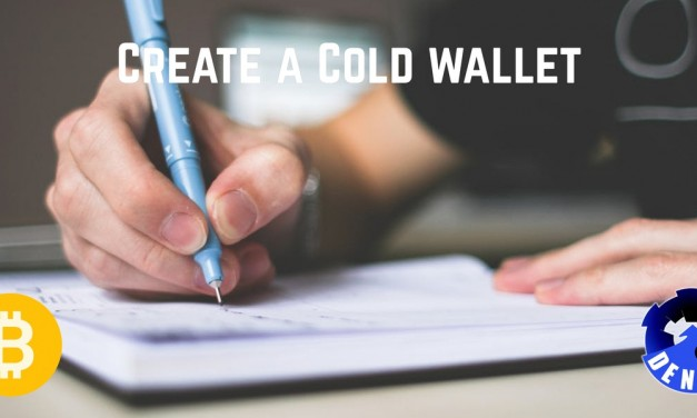 Create a bitcoin cold wallet