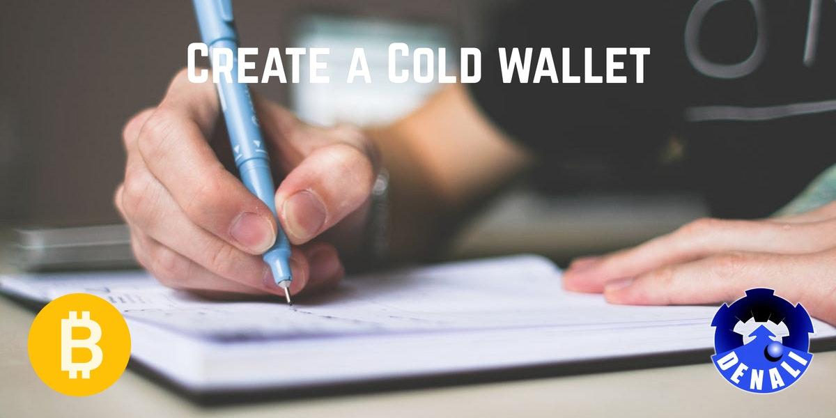 Create a bitcoin cold wallet