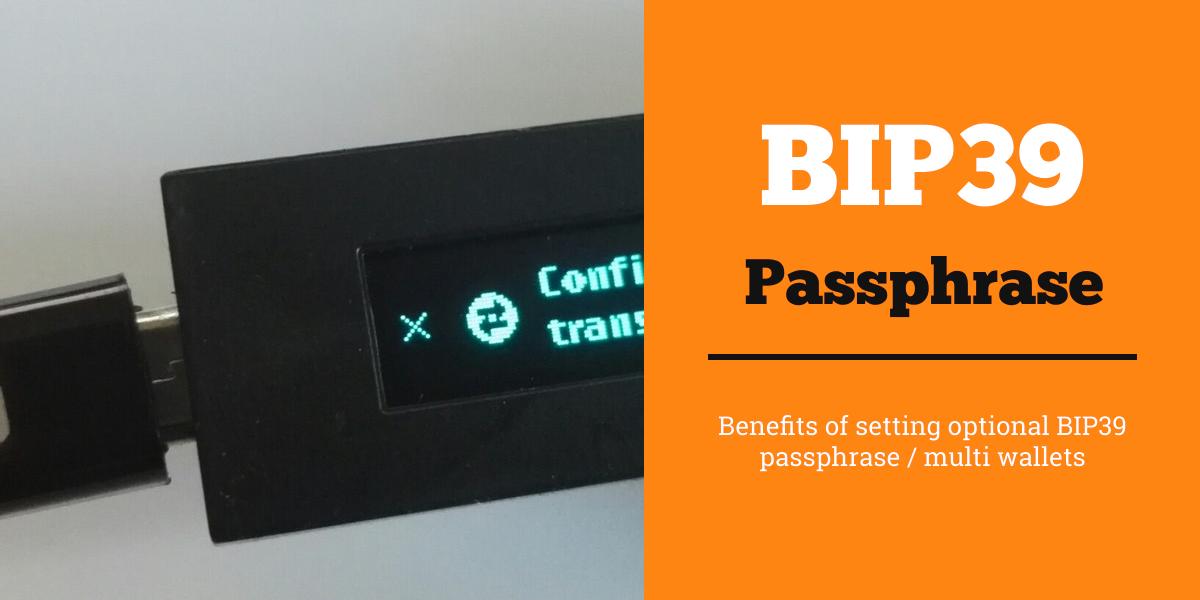 Setting passphrase BIP39 ledger nano