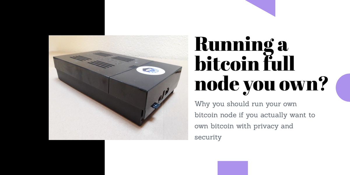 Running an own bitcoin full node