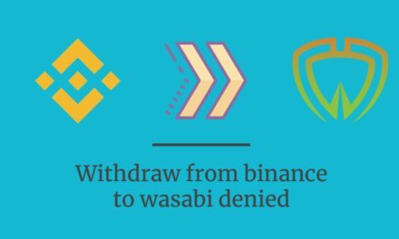 Binance denies withdrawal to wasabi
