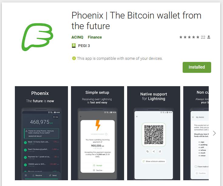 Phoenix Bitcoin wallet