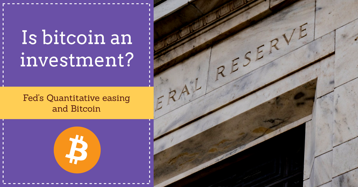 Is bitcoin an investment? Fed and assets in coronavirus times