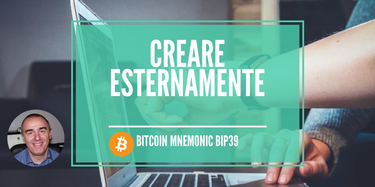 Bitcoin: Creare esternamente un mnemonic bip39 24 parole con entropia proveniente da mic noise