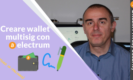 Bitcoin: creare wallet multisig con electrum, guida step by step