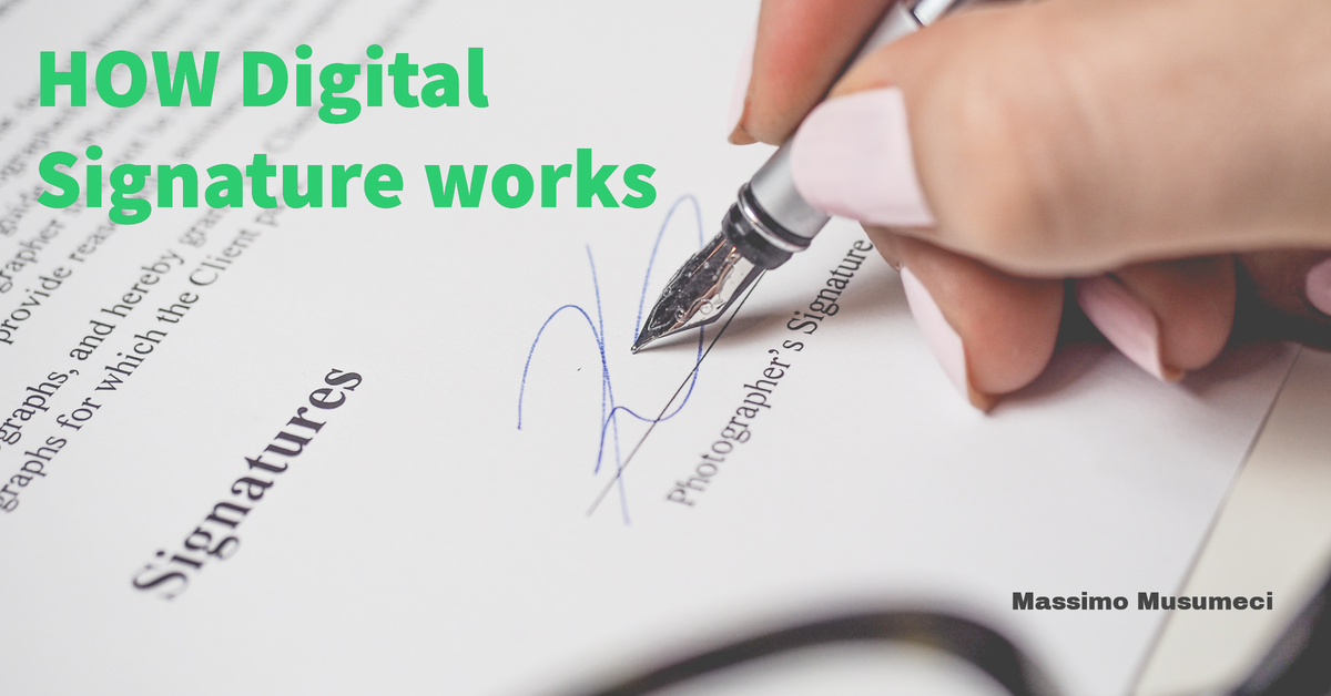 How digital signature works