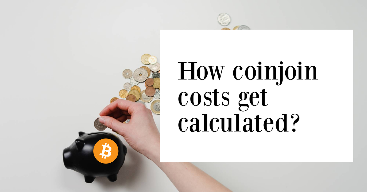 Fees analysis of a coinjoin tx