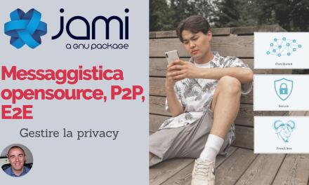 Jami: Messaggistica istantanea opensource, peer 2 peer, decentralizzata, rispettosa della privacy