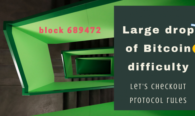 Large bitcoin difficulty drop after retarget block 689472