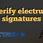 Public keys for electrum signatures verification